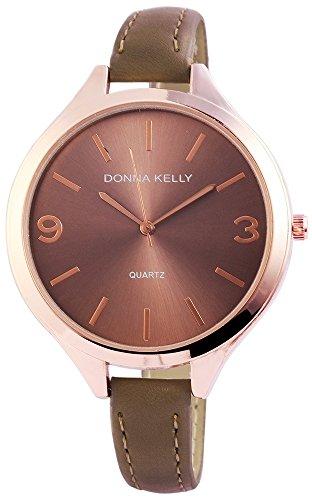 Donna Kelly dameshorloge kunstleer kleur rosé goud bruin trend modern 191036500006