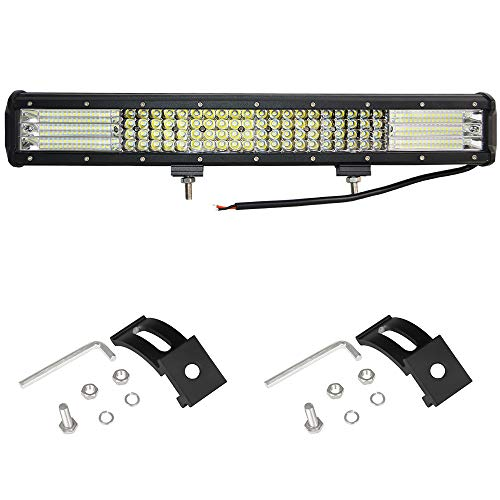 Willpower 510W LED Arbeitsscheinwerfer Bar Spot Flood Combo 20 Zoll Reflektor Offroad Scheinwerfer Arbeitslicht – 4 Reihe LED Zusatzscheinwerfer Leuchtbalken mit Kabelbaum für UTV ATV SUV 12V 24V