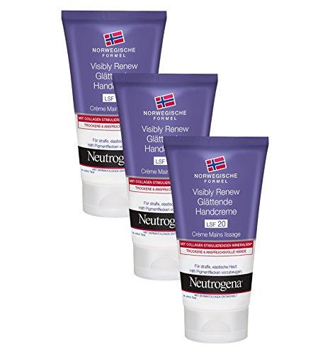 Neutrogena Visibly Renew Glättende Handcreme, 3 x 75 ml