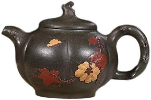 YF-SURINA Juego de té Pequeña tetera Mineral Verde oscuro Cielo azul Barro Allure Tetera,Barro azul oscuro verde