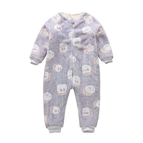Bebé recién nacido bolsa de dormir mamelucos piel de algodón habitación climatizada al aire libre cuatro estaciones niños jardín de infantes pijamas de felpa 80-90cm