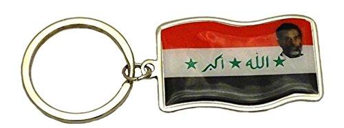 Preisvergleich Produktbild Saddam Hussein Irak Country Schlüsselanhänger Key kette Irak Saddam Fashion Halter Key Ring Iraq Flag / Saddam