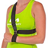 BraceAbility Shoulder Subluxation Arm Sling - Universal Tennis Elbow, Surgery Recovery, Stroke Patients with Hemiplegia and Acromioclavicular Joint Sprains Support Brace (Left or Right)