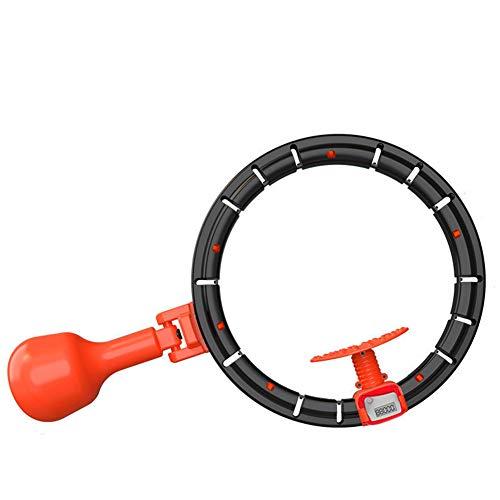 QLGRXWL Smart Hula Hoop,Automatisch Drehender Abnehmbarer Hula Hoop,Heimtraining, Schneller Brennende Fette Hula Hoops,Schwarz,L: Waist 200cm