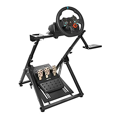 Hottoby Racing Wheel Stand Pro Wheel Stand Adjustable for Logitech G25 G27 G29 G920 Racing Wheel Shifter and Pedals