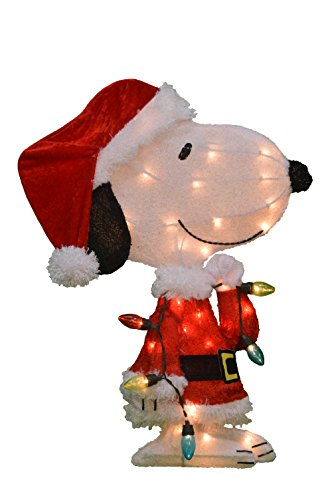Pre-Lit Peanuts Snoopy Christmas Yard Decoration