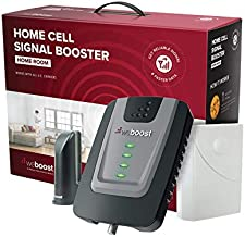 weBoost Home Room (472120) Cell Phone Signal Booster Kit | Up to 1,500 sq ft | All U.S. Carriers - Verizon, AT&T, T-Mobile, Sprint & More | FCC Approved,Black, Grey, Red