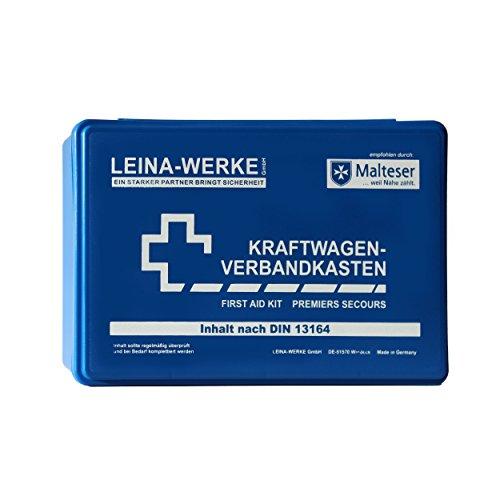 Leina-Werke 10001 KFZ-Verbandkasten Standard, Blau/Weiß