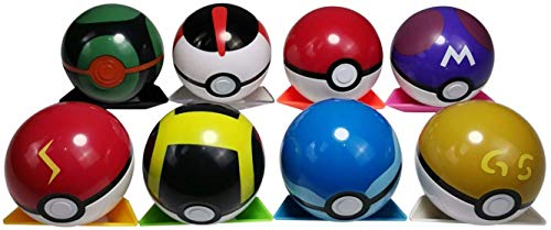 POKEEPETS 8 Collectible Pokeball mon pet Pocket Monster Action Figure Toy for Kids Ages 2 and Up