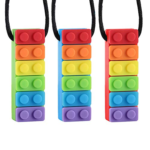 Yuccer Chew Necklace for Kids, Silicone Chewing Necklace Teething Pendants...