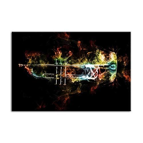 YB muurkunstwerk decoratie Hd druk muziekinstrument trompet poster modulaire afbeelding canvas schilderij voor woonkamer Size1 No Frame 1 p.