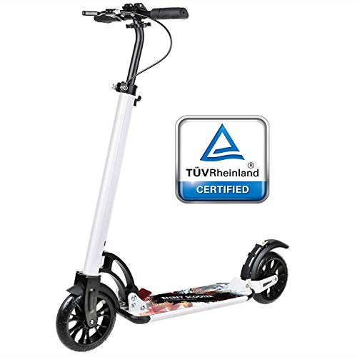 besrey Big Wheel Scooter Step Step Step met grote 205 mm Wheel met XXL treeplank, handrem