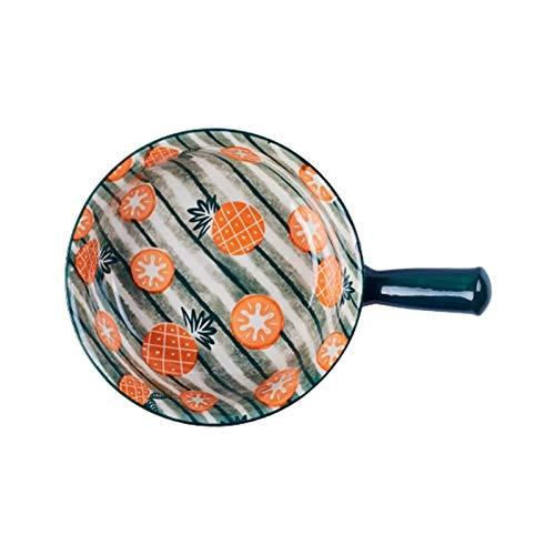 Bandejas Horno para Horno y microondas Cerámica Cakeware Lasagna Pans para cocinar Cena Cena Cocina Microondas Horno Horno Bandeja Cerámica para Hornear Utensilios (Color : F-1)