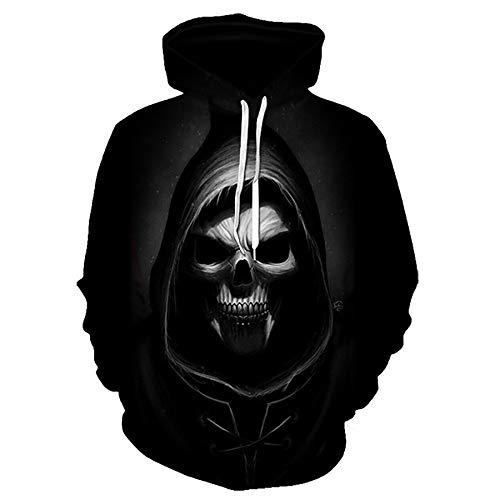 Zaima Schädelkopf Männer Hoodies Sweatshirts 3D Gedruckte Neuheit Hooded Jacken Frauen Sport Casual Hoodie