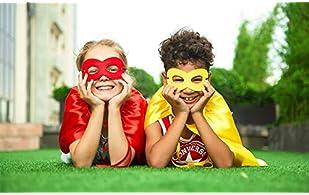 Superhero Capes and Masks Set, 24 Sets Bulk Pack Dress Up Costume for Kids Party, DIY Super Hero Capes with Superhero...
