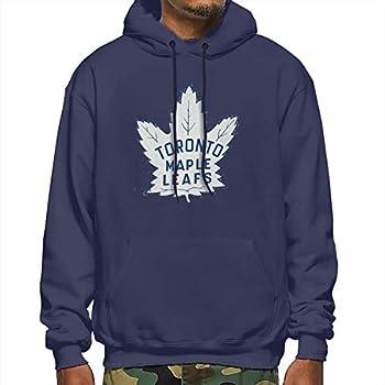 Hockey-Logo-Toronto-Maple-Leafs Men Casual Pullover Hoodie Long Sleeve Sport Sweatshirt Navy XXL