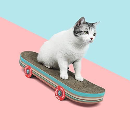 QDTD Katzenkratzbrett Verschleißfeste Katzenspielzeug Katzenkratzbrett Katzenkratzbrett Nest Haustiernest Katze Schutz Möbel, Skateboard Stil