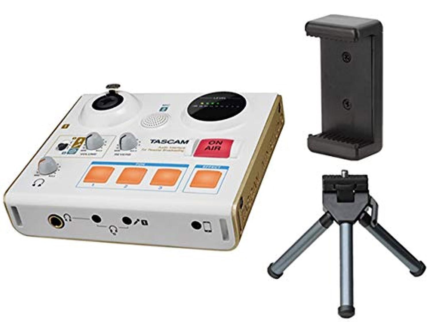 入浴数学群れTASCAM (タスカム) 家庭用放送機器 USBオーディオインターフェース MiNiSTUDIO PERSONAL US-32W スマホ配信グッズセット