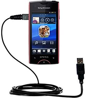 Gomadic Hot Sync and Charge Straight USB Cable for The Sony Ericsson Xperia ray – Charge and Data Sync with The Same Cable. Built TipExchange Technology