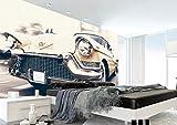 BXZGDJY Papier Peint Autocollant (L) 250X (H) 175Cm Papier Peint Stickers Muraux 3D Salon De Télévision 3D Fixé Au Mur Voiture De Luxe Peinture Photos Fond D'Écran 3D Peintures Murales Enfant