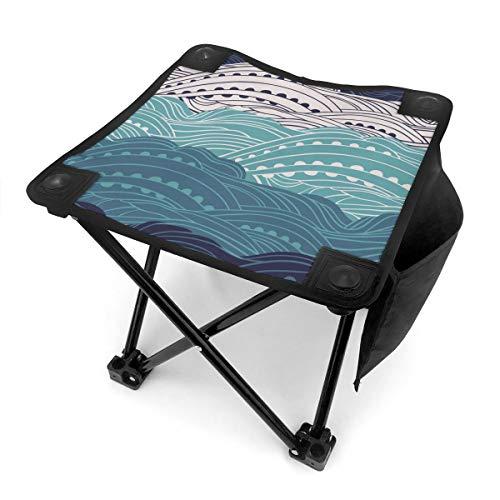 UpGo Taburete plegable pequeño estilo japonés para camping, senderismo, caza, pesca, viajes, tela Oxford, taburete plegable con bolsa de transporte