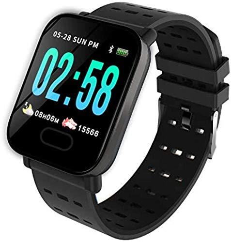JSL Reloj inteligente Bluetooth 1.3 con monitor de ritmo cardíaco y seguimiento de actividad, reloj inteligente para mujeres, hombres y niños, negro