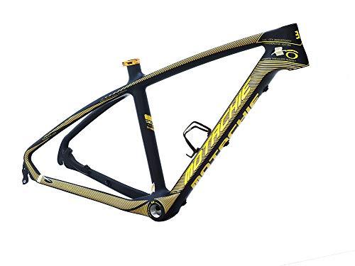 BIKECO Cuadro de Bicicleta de montaña de Fibra de Carbono Cuadro MTB Ligero de Carbono Completo Cuadro de Bicicleta de montaña 26er MTB Cuadro de Bicicleta Negro Mate Cable de enrutamiento Interno