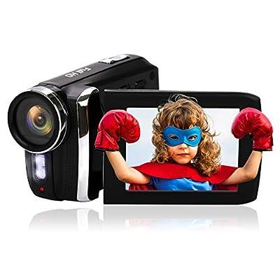 Mini DV Camcorder Vmotal Digital Camera Recorder Full HD 1080P 20FPS 2.8 Inch 270 Degree Flip Screen Video Camera Camcorder 8X Digital Zoom YouTube Vlogging Camera for Kids Teens Beginners from Fei Bao