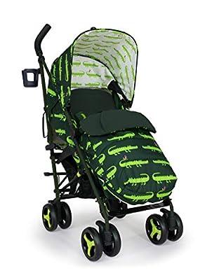 Cosatto Silla de paseo Supa 3 – Cochecito ligero desde el nacimiento hasta 25 kg – Paragüero, cesta de la compra grande, saco de dormir, sonrisas de cocodrilo