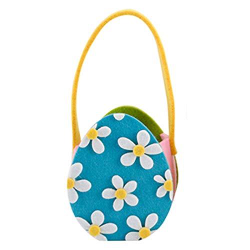 N\A Osterei Süßigkeiten Taschen 3D-Druck Blumen Tragetaschen Cute Naughty Ostern Körbe Sammeltasche Kinder...