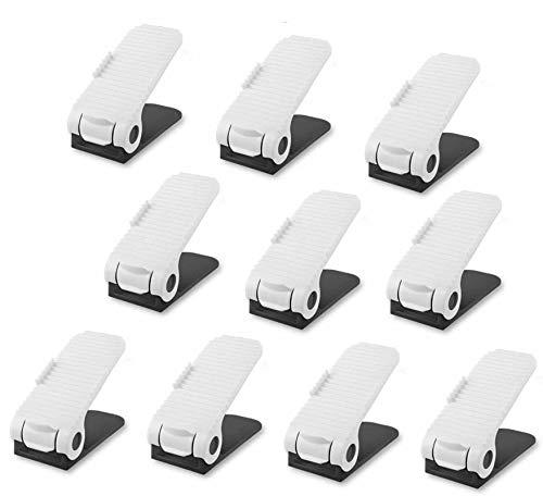 Lovne Shoe Slots - Adjustable Shoe Organiser - Shoe Stacker Holder Shoe Organizer Space Saver Rack Storage (10 PCS Shoe Organiser)