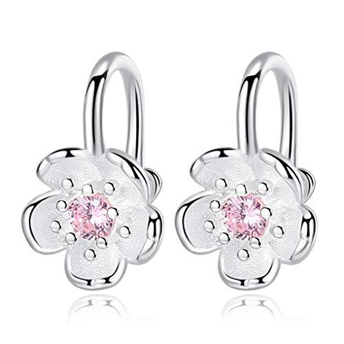 Republe 1 Paar Frauen-Mädchen-Kirschblüten-Blumen-Klipp-Ohrring-Mädchen-Hochzeit Ohrclips