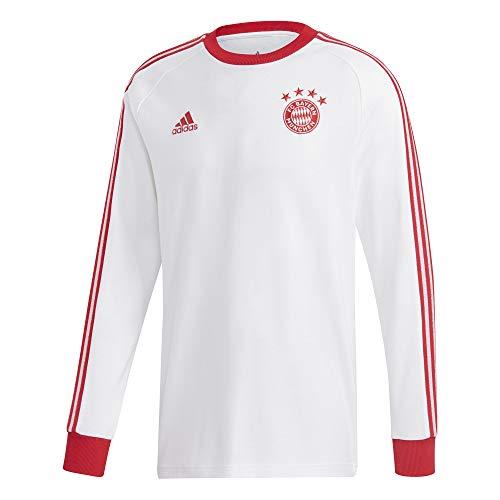 adidas Herren FC Bayern Icons Tee T-Shirt, White, M