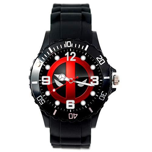 Quarz-Armbanduhr mit schwarzem Silikonband für Action-Film-Fans