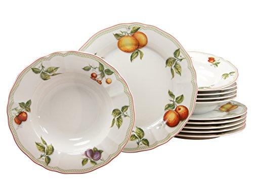 Creatable Flora Orchard da tavola, da toletta, di Porcellana, Motivo Floreale, Multicolore, Set da 12