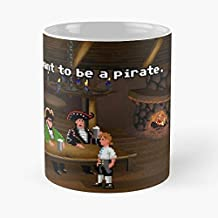 92Wear Monkey Island Guybrush Threepwood Call Center Dinky Cover - Best 11 Ounce Cerámica Coffee Mug Gift