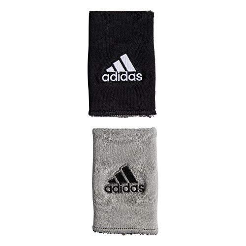 adidas, Intervall-Armschweißband, beidseitig tragbar. Größe M, Unisex, 5133926, Black/White/Aluminium 2/Black, Einheitsgröße