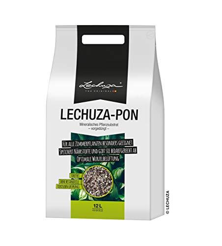 LECHUZA PON Pflanzsubstrat, 12 l, Mineralgestein, Allergiker geeignet, Inklusive Langzeitdünger, Alternative zu herkömmlicher Erde, 19562