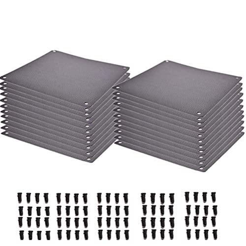 20 piezas 120 mm computadora PC a prueba de polvo ventilador enfriador cubierta de la caja del filtro de polvo malla con 80 tornillos