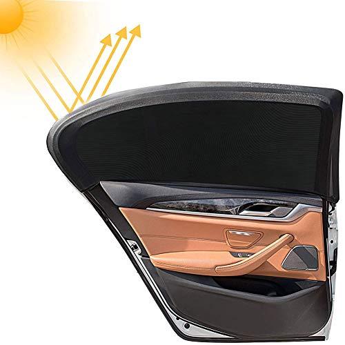 Sonnenschutzrollo Auto für Seitenfenster, Autofenster Sonnenschutzrollos Heckscheibe, Autosonnenblende Sonnenschutz Netz (2 Stück)