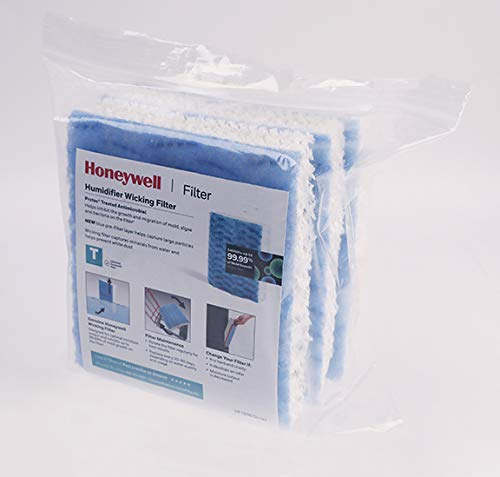 Honeywell Replacement Wicking Filter T, 3 Pack, White, 3 Count