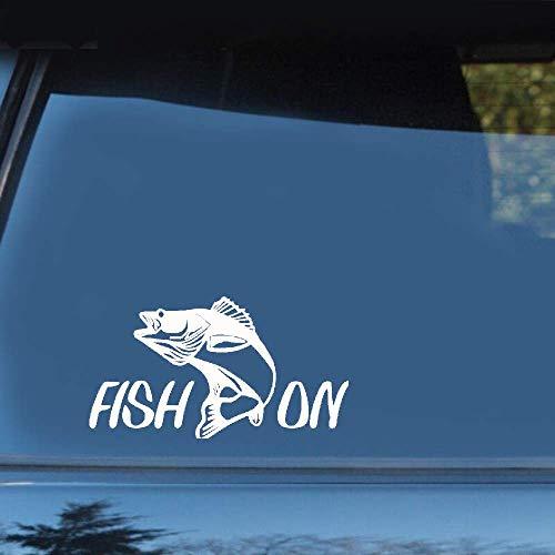 15,6 cm x 7,4 cm vis op Fischer snoepjes vissen sticker decals decor voor auto laptop venster sticker