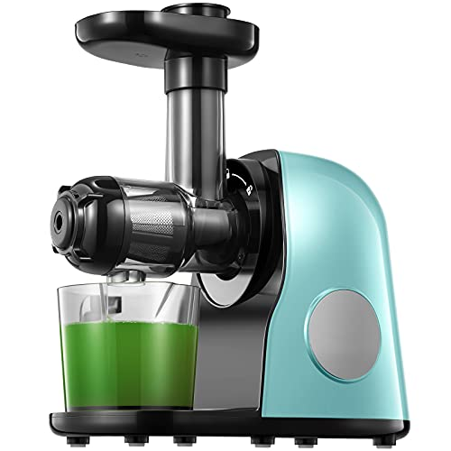Slow Masticating juicer Extractor, Cold Press Juicer Machine, Quiet Motor, Reverse Function, High Nutrient Fruit and Vegetable Juice with Juice Jug & Brush for Cleaning, Matcha Green is $39.99 (33% off)