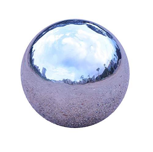 GDglobal - Bolas de acero inoxidable, bolas de jardín, bolas de espejo plateadas de acero inoxidable para decoración de jardín, bolas de metal (150 mm)