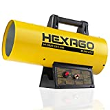 HEXAGO - 40,000 BTU Contractor Portable Liquid Propane Gas LGP Forced Air Heater, CSA Listed, Yellow