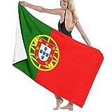 Lsjuee Toalla de baño, 80X130Cm Bandera de Portugal Toallas de baño Toallas de baño de Playa súper absorbentes para Gimnasio Playa SWM SPA
