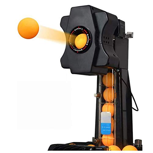 Pc-Lhd Robot de Tenis de Mesa, Lanzador Automático de Entrenador de Tenis de Mesa Portátil con Sistemas de Reciclaje Automático de Bolas para Principiantes/Mesa de Amantes del Ping-Pong,Negro