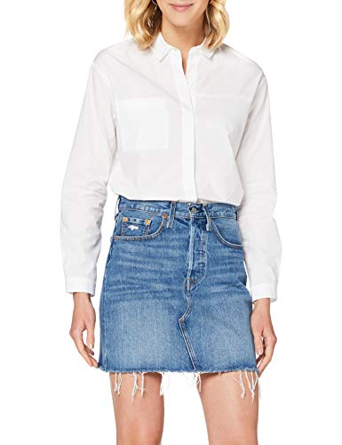 Levi's HR Decon Iconic BF Skirt Gonna, Stuck in The Middle, UK 6 Donna