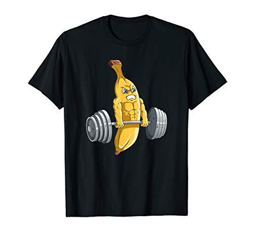 Fitness Gym Trainieren lustig Banane Fitnessstudio T-Shirt