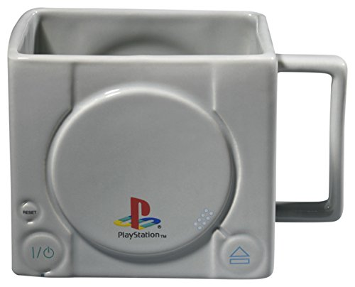 GB eye LTD Playstation Konsole 3D Tasse Holz verschiedene 15x10x9cm